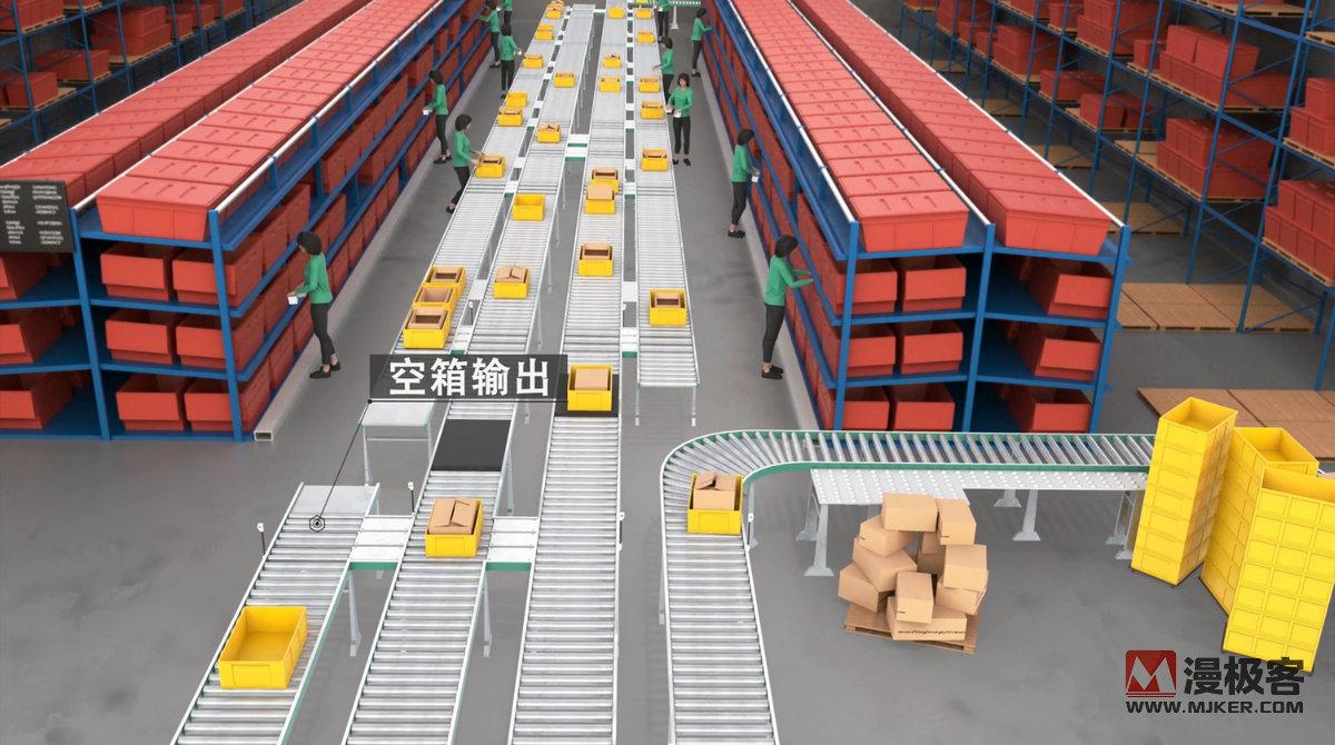 自动仓储设备包裹物流智能分拣物流自动化亚博足彩app